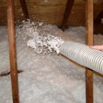 Insulation in the attic against cold and heat