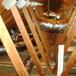 Duct system in attic