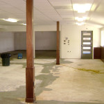 Drying walls in commercial building