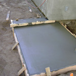 Pouring concrete foundation