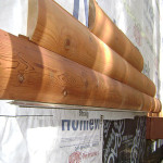 Log veneer siding, Home in Arnold, CA