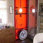 Testing with blower door