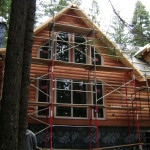 Veneer log siding, home Calaveras County