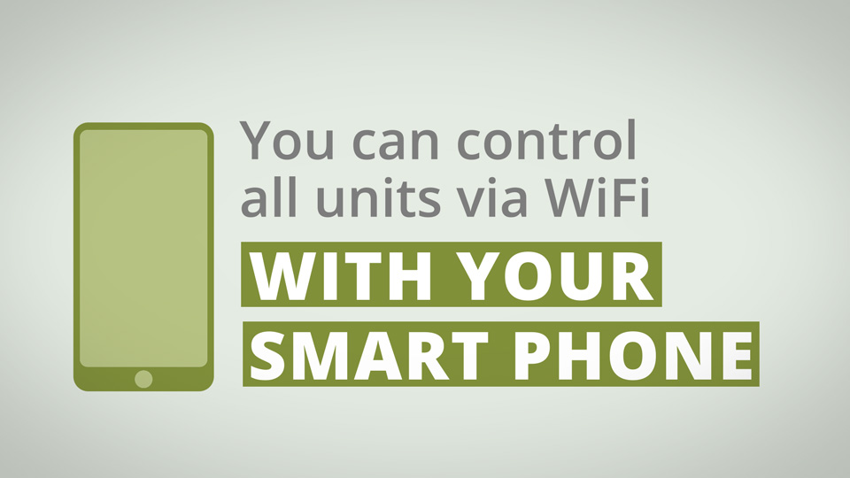 Mini-splits smart phone control
